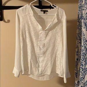 White splitneck blouse